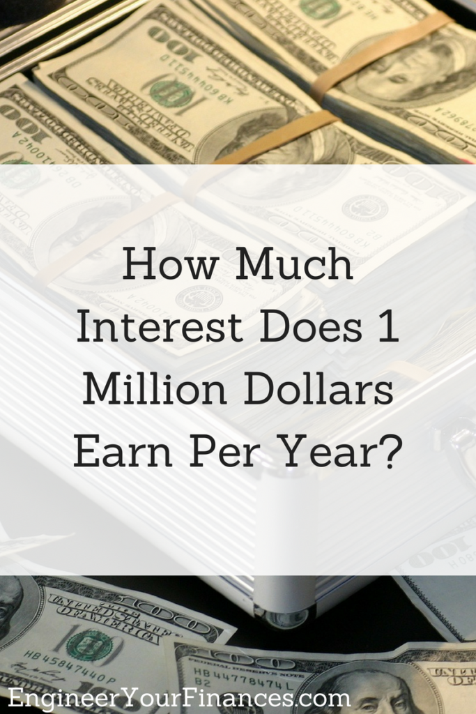 How Much Interest Does 1 Million Dollars Earn Per Year