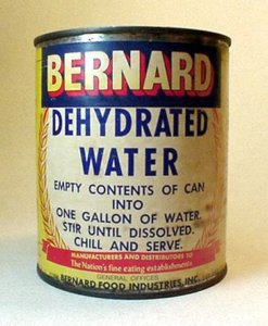 Bernard Can of Dehydrated Water