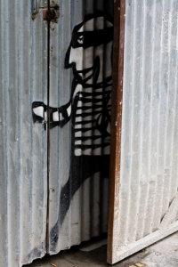 Street Graffiti of Burglar