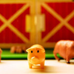 Plastic Farm Set with Pigs