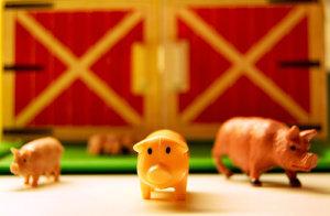 Plastic Farm Set with Pigs