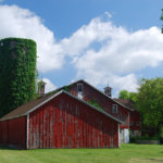 Preserved Red Barn with blue sky