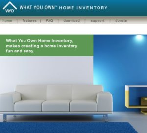 What You Own Home Inventory Software Screenshot