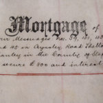 Historical pen and paper mortgage