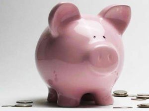 Pink Smiley Piggy Bank