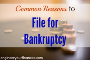 bankruptcy, filing for bankruptcy, reasons for bankruptcy