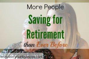 saving for retirement, retirement savings, retirement plans