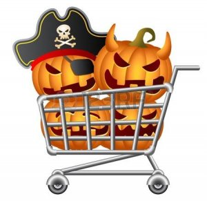 Halloween shoppers