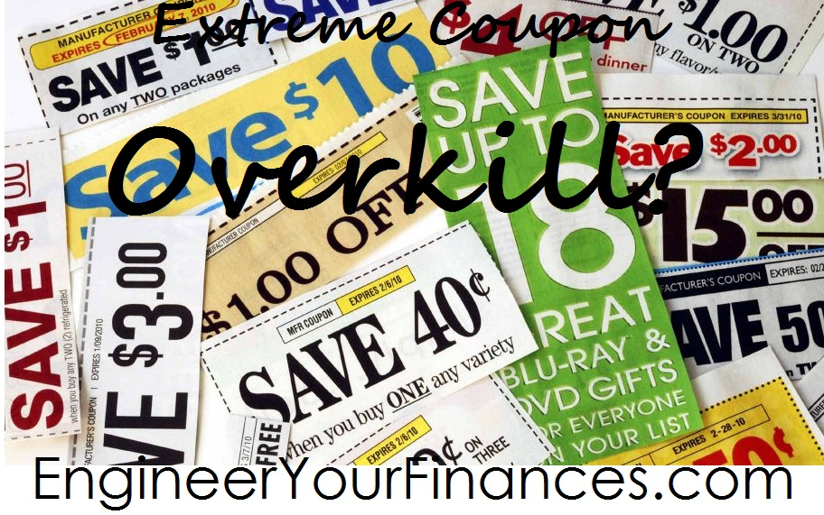 Don't let your coupon hobby interfere with other aspects of your life.